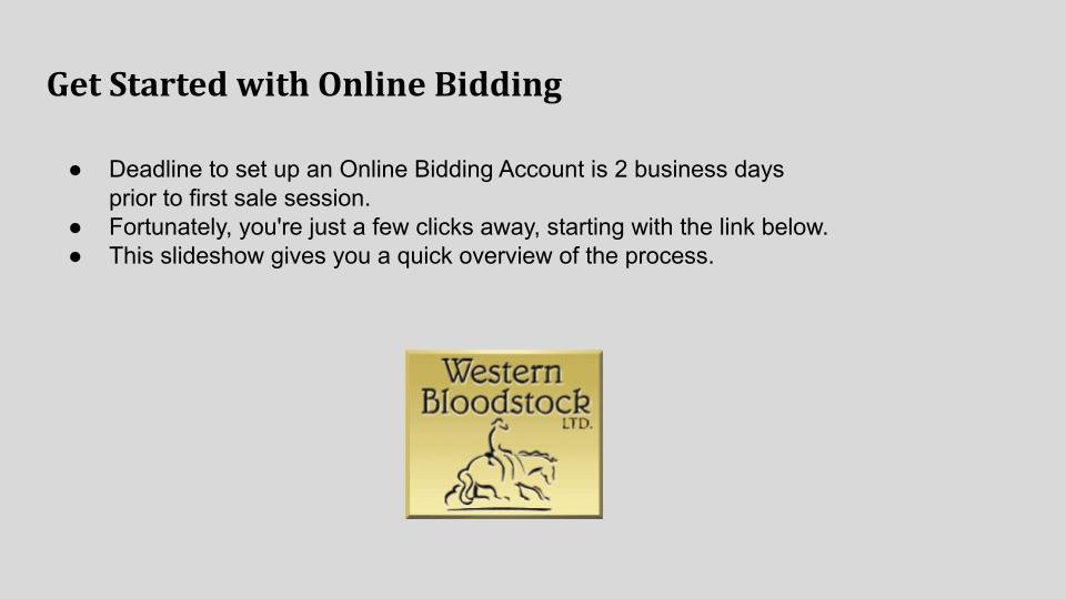 Online Bidding 00